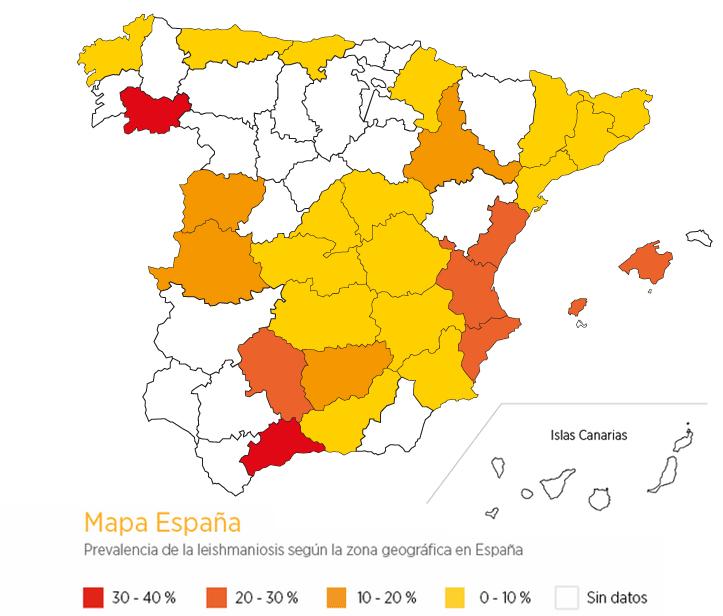 Mapa Leishmania España