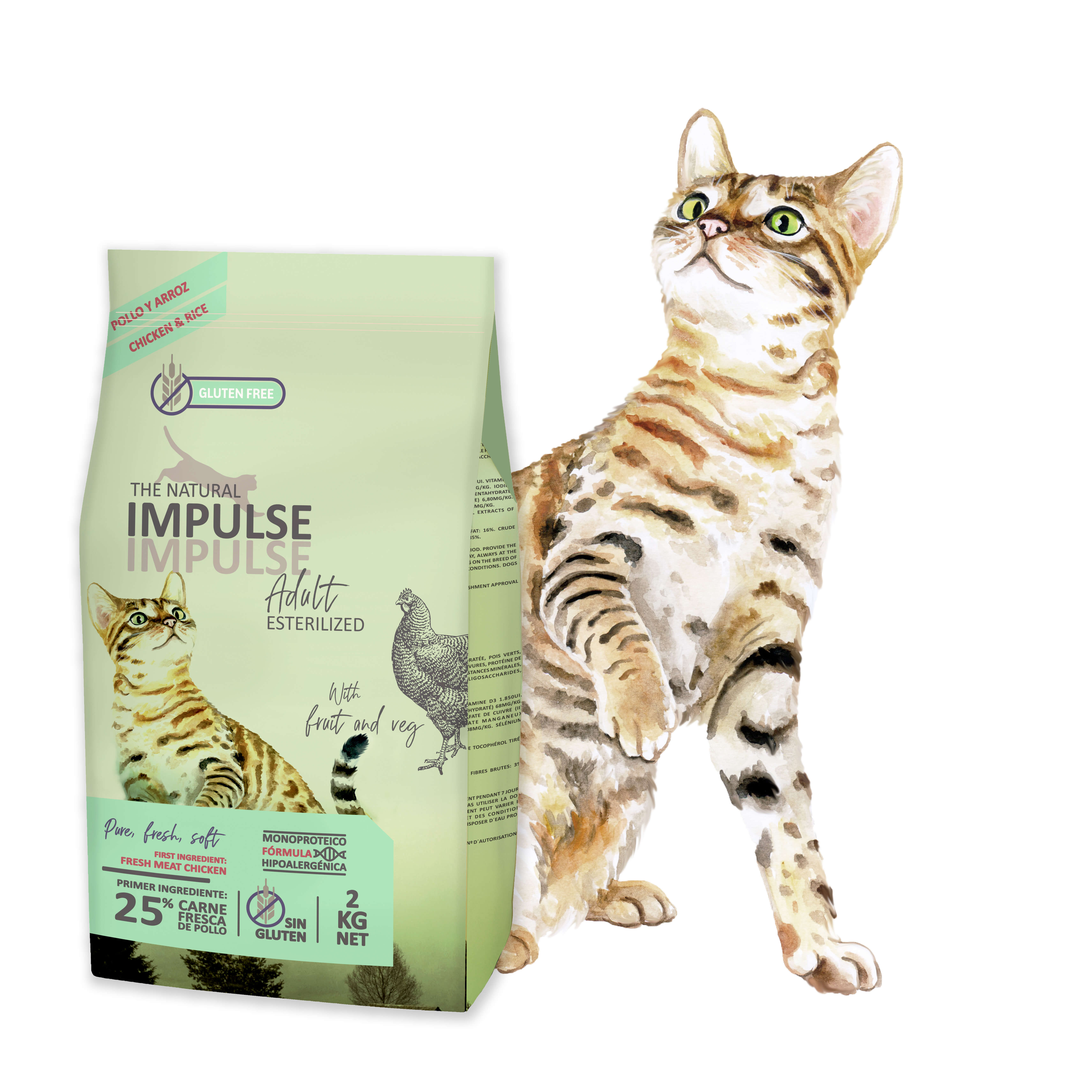 The Natural Impulse Cat Adult Sterilized